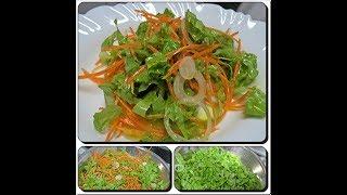 🍴🍛Duas Maneiras de Preparar Salada de Alface de Restaurante com Déby & Ian👧👦