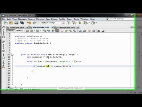 Sorting Array Numbers Java; Bubblesort Algorithm, Java Tutorial