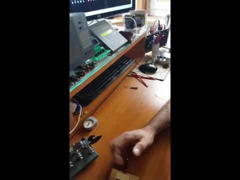 Frattini Key Mono Version mk2 test TX and High Speed Telegraphy HST