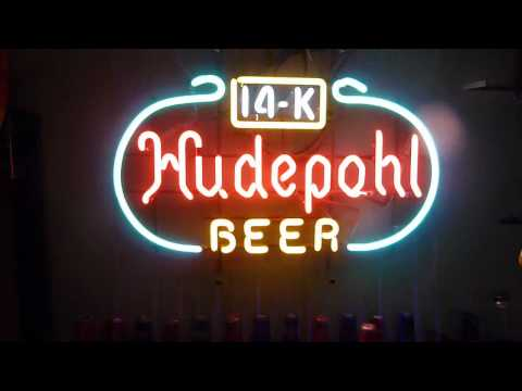 Hudepohl Beer 14K Vintage Neon Sign