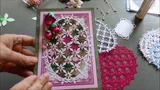 Tutorial How to Make Cascading Fuchsia and Heartfelt Creations Cards