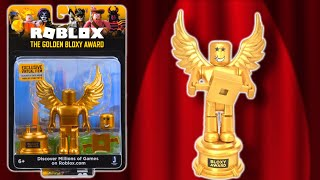 Roblox Bloxy Award Set & Code Item, Unboxing & Roblox Gaming Info