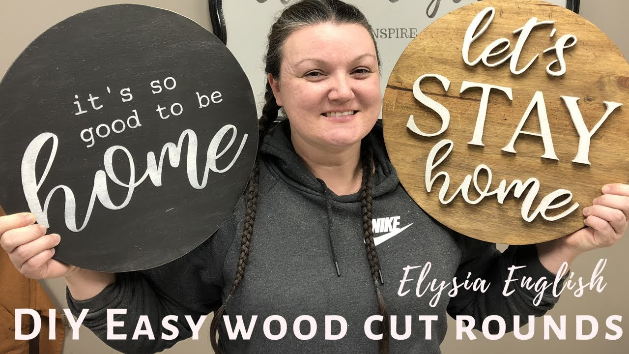 DIY EASY WOOD CUT ROUNDS|Cutting wood circles|How make round signs| Perfect circles