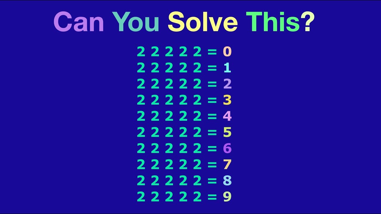 Maths Number Puzzles Easy Math Riddles Math Brain Teaser Youtube