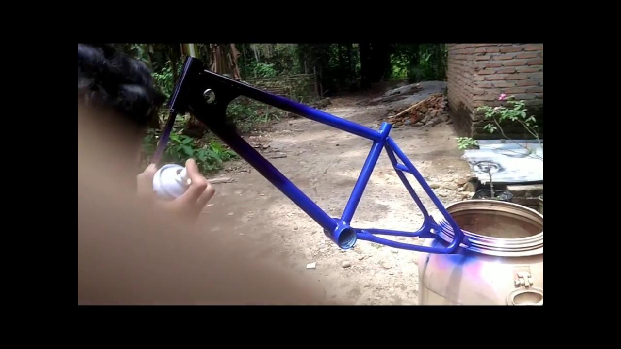 Cara Mengecat Sepeda Warna Youtube