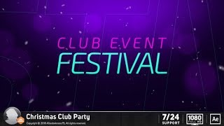 Christmas Club Party (After Effects Template) ★ AE Templates