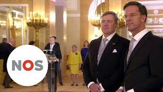 BEËDIGING: Het nieuwe kabinet Rutte III is door de koning beedigd