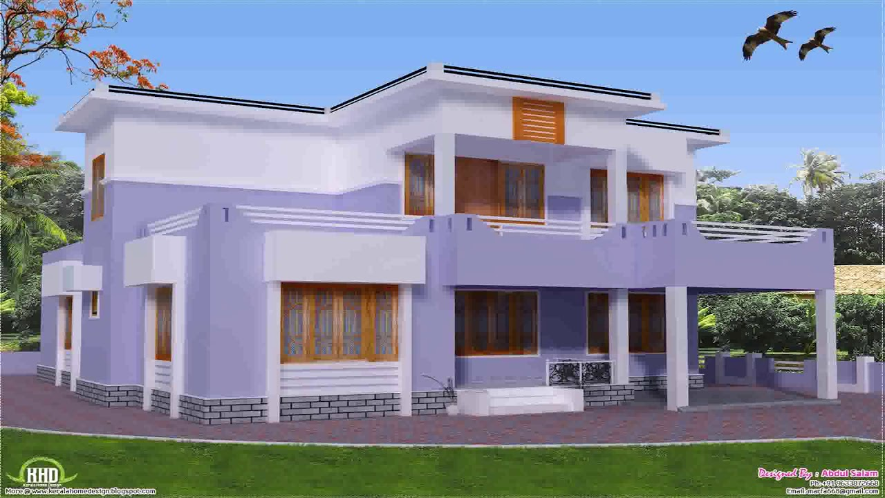 House plans with parapet roof youtube for Parapet house plans