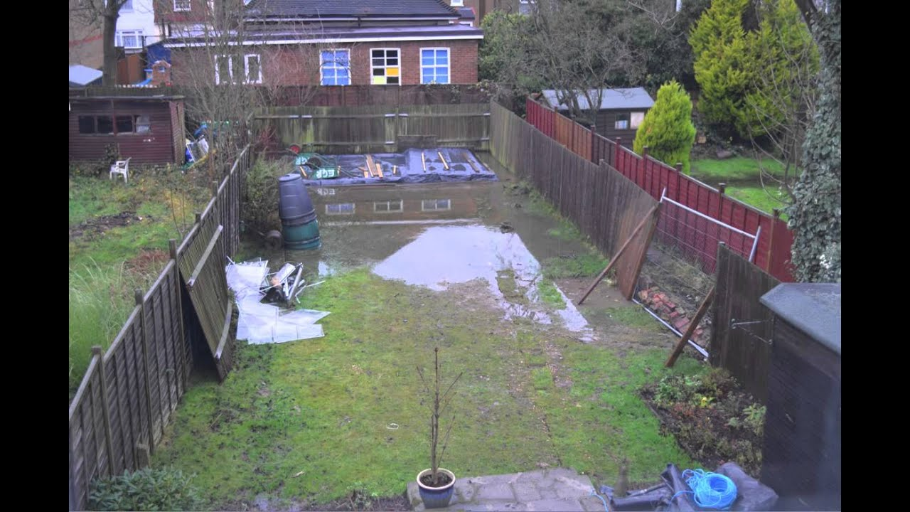 Water Drainage Problem In Garden   Time Lapse