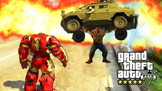 GTA 5 PC Mods - INCREDIBLE HULK VS. IRON MAN MOD! GTA 5 SUPERHERO SHOWDOWN #1 (GTA 5 Mods)