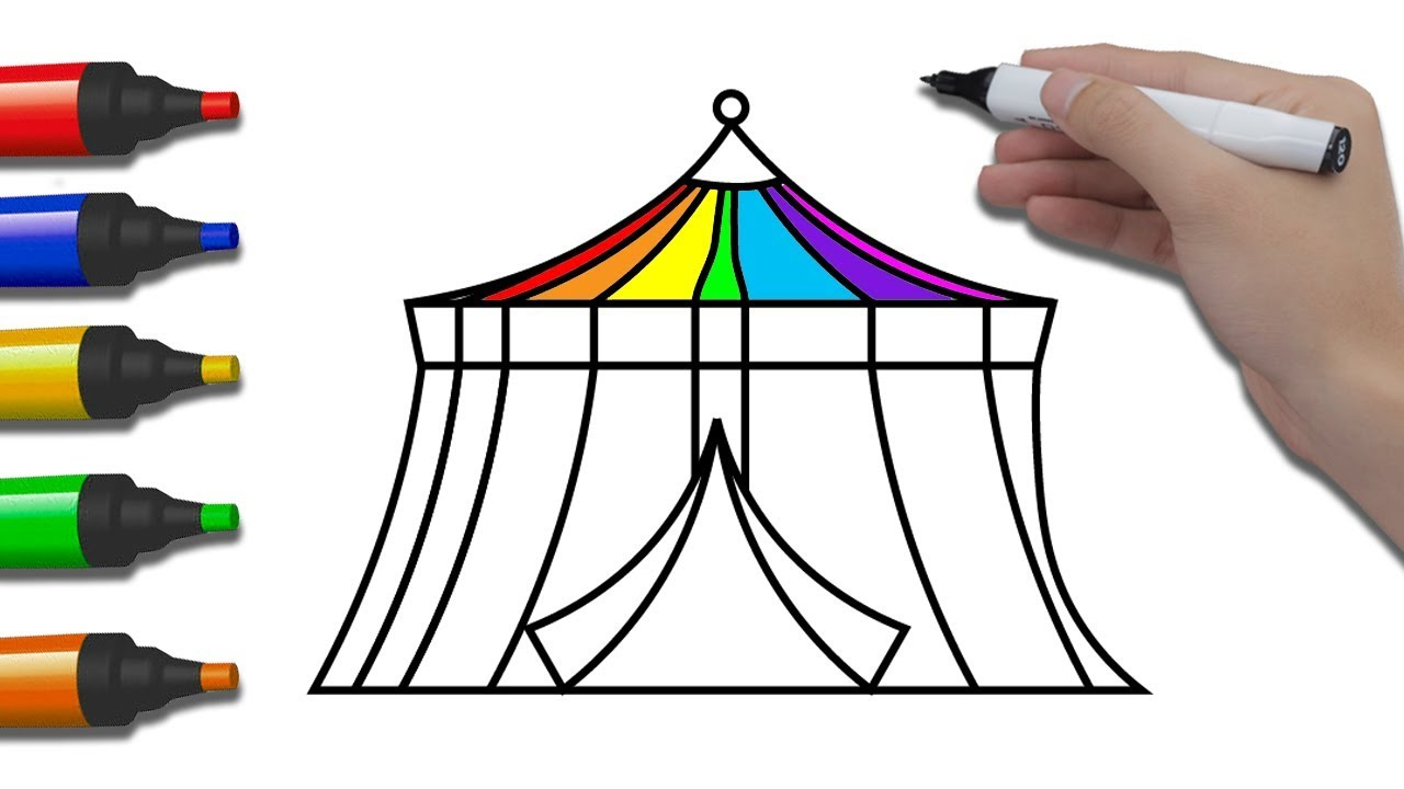 how to draw a circus