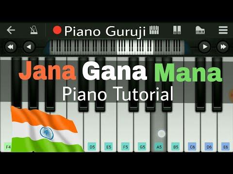 Jana Gana Mana (National Anthem) Piano Tutorial/Lessons | Mobile Perfect Piano Notes - Piano Guruji