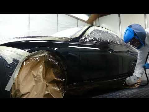 BMW paint spraying demo