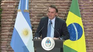 Palabras de Mauricio Macri y Jair Bolsonaro durante el brindis en el Museo Casa Rosada
