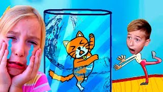 Мама и Катя СПАСАЕТ Котенка! Новая игра Happy Cats Новая Коллекция Котиков Мы играем канал для детей