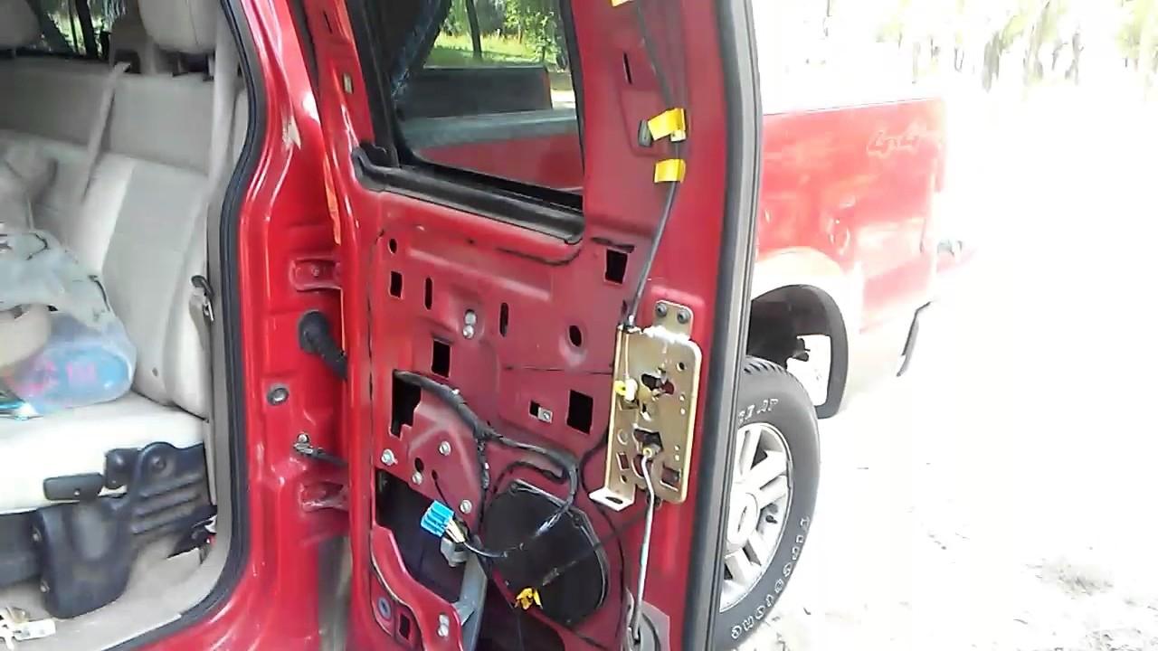 2004 ford f150 rear door stuck fixed!  YouTube