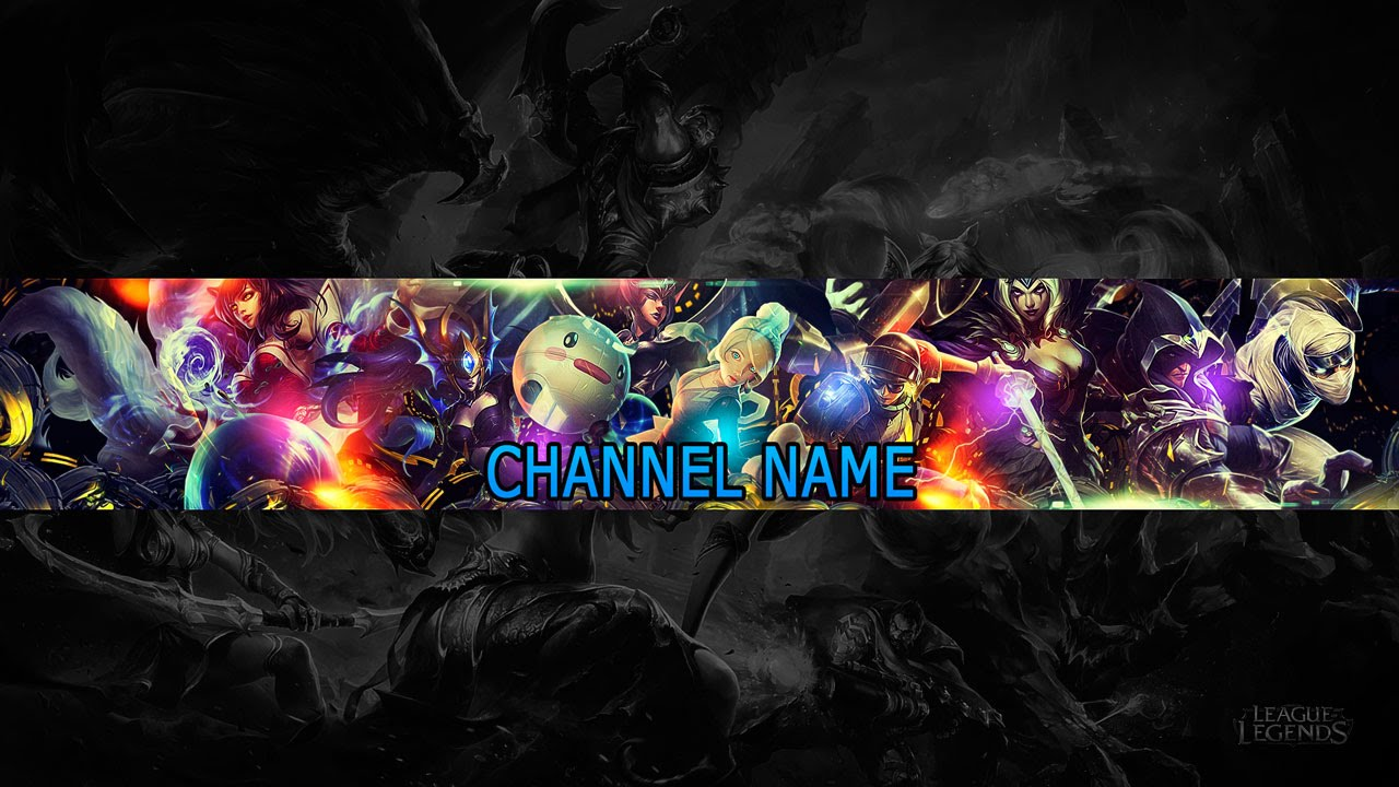 Speed art free youtube channel art banner 9 league for Cool youtube channel art templates
