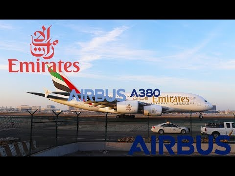 Emirates Airlines Airbus A380-861 [A6-EDF] Taking off from Los Angeles