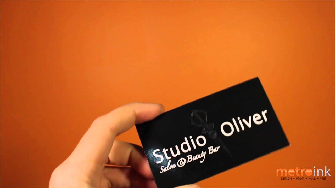 Metroink Akua Foil Business Card Studio Oliver