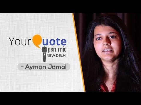 'Aaeena' by Ayman Jamal   Hindi Poetry   YQ Open Mic 1 New Delhi