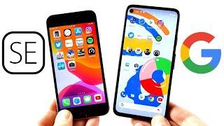 iPhone SE 2020 vs Google Pixel 4a Speed Test!