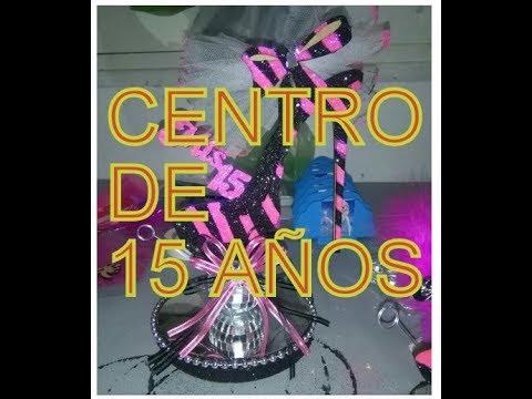 CENTRO DE MESA PARA 15 AÑOS SUPER FACIL DE HACER HERMOSO