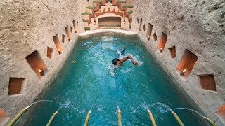 Build Most Awesome Underground Swimming Pool With Shower Tank & Underground Tunnel House By Digging