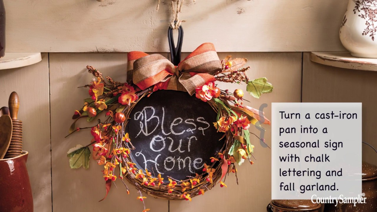 Easy Fall Decorating Ideas A Country Sampler Design Tutorial Youtube
