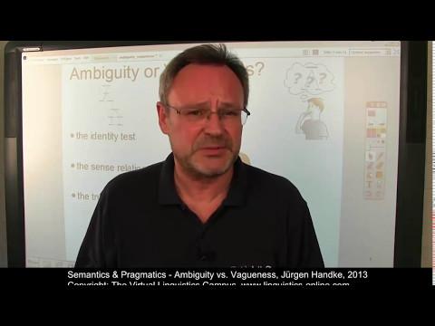 Ambiguity vs Vagueness (Semantics) علم الدلالة