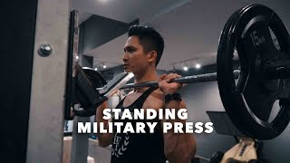 How To Do A Standing Military Press?