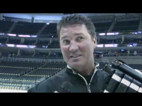 Mario Lemieux & Sidney Crosby Skate On Consol Energy Center