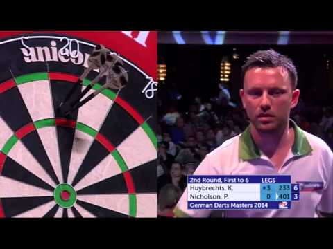 German Darts Masters 2014 Second Round Kim Huybrechts v Paul Nicholson