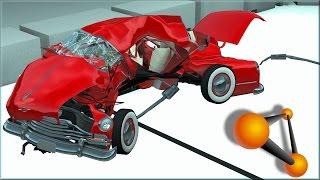 BeamNG Drive Damage Test At 30, 60, 90, 120Mph Burnside V8 Custom Lead Sled #2