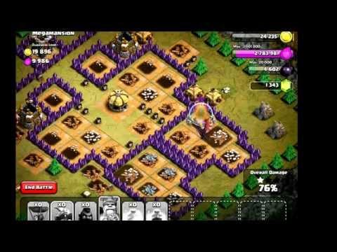 Clash of Clans: Hog Raid on Mega mansion Goblin Campaign