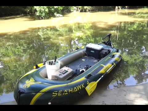 Seahawk 4 back at it again youtube for Seahawk boat paint