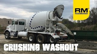 Video still for Crushing Washout Concrete