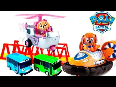 Герои мультфильмов Тайо - Маленький автобус и Щенячий патруль
