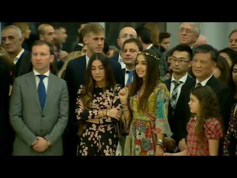 An exhibition of contemporary Chinese artists is opened at the Heydar Aliyev Center