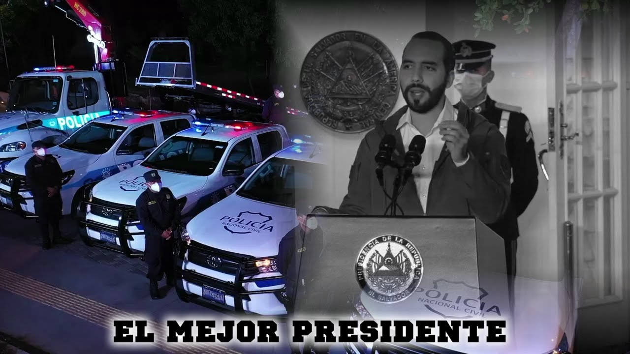 Nayib Bukele entrega nuevas patrullas y agradece a Dios primeramente y a los uniformados