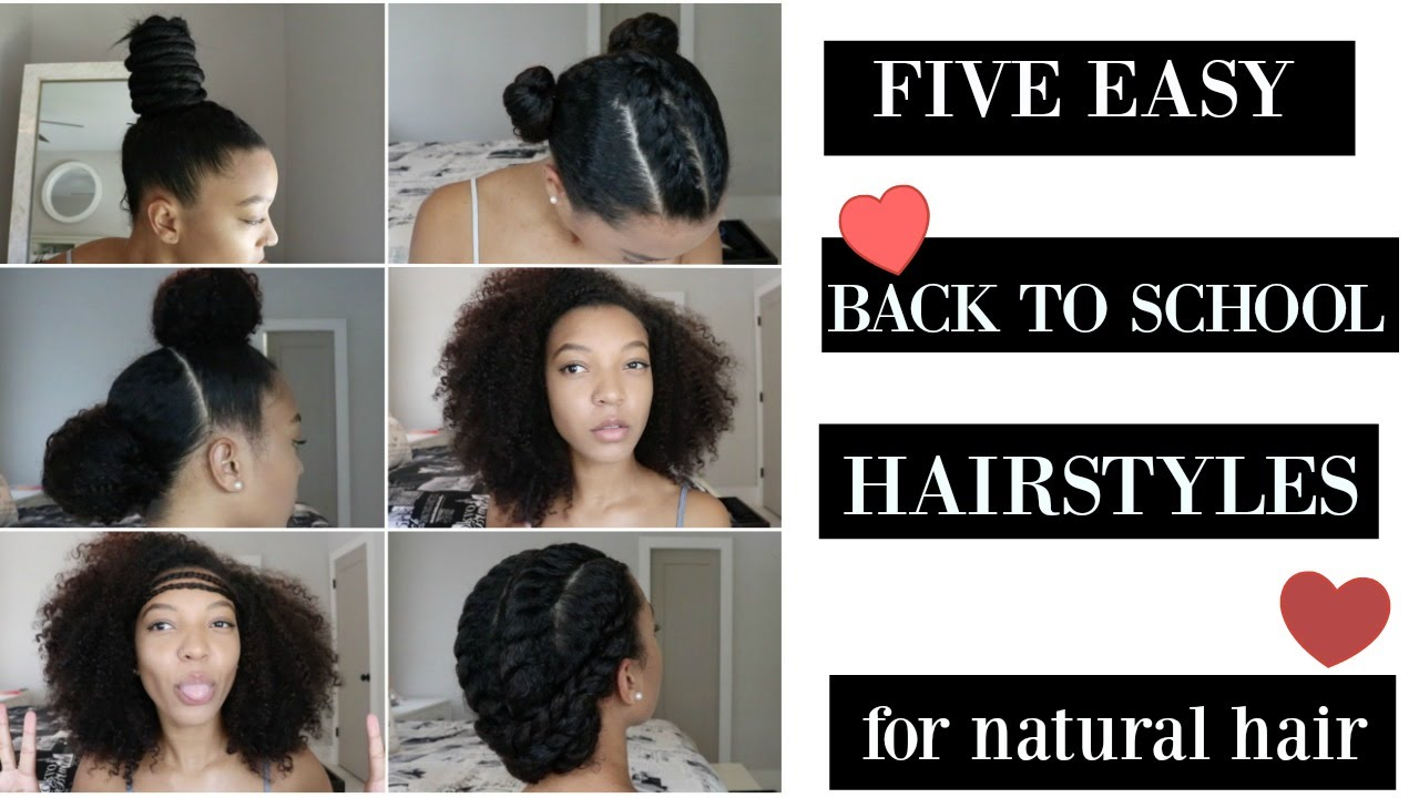 summer styles for natural hair 5 easy back to school and end of summer hairstyles for 3618 | maxresdefault
