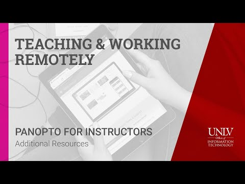 panopto-for-instructors---5.-additional-resources