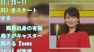 井上あさひアナ、23時台ニュース新番組 『ヒストリア』後任は渡邊佐和子...