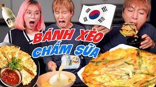 Làm bánh xèo Hàn Quốc | MISTHY VÀO BẾP CÙNG WOOSSI
