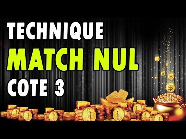 MATCH NUL : NOUVELLE MÉTHODE AUTOMATIQUE AUX PARIS SPORTIFS (SCRIPT BETSPORTS)