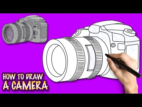 How to draw a Camera - Easy step-by-step drawing lessons for kids