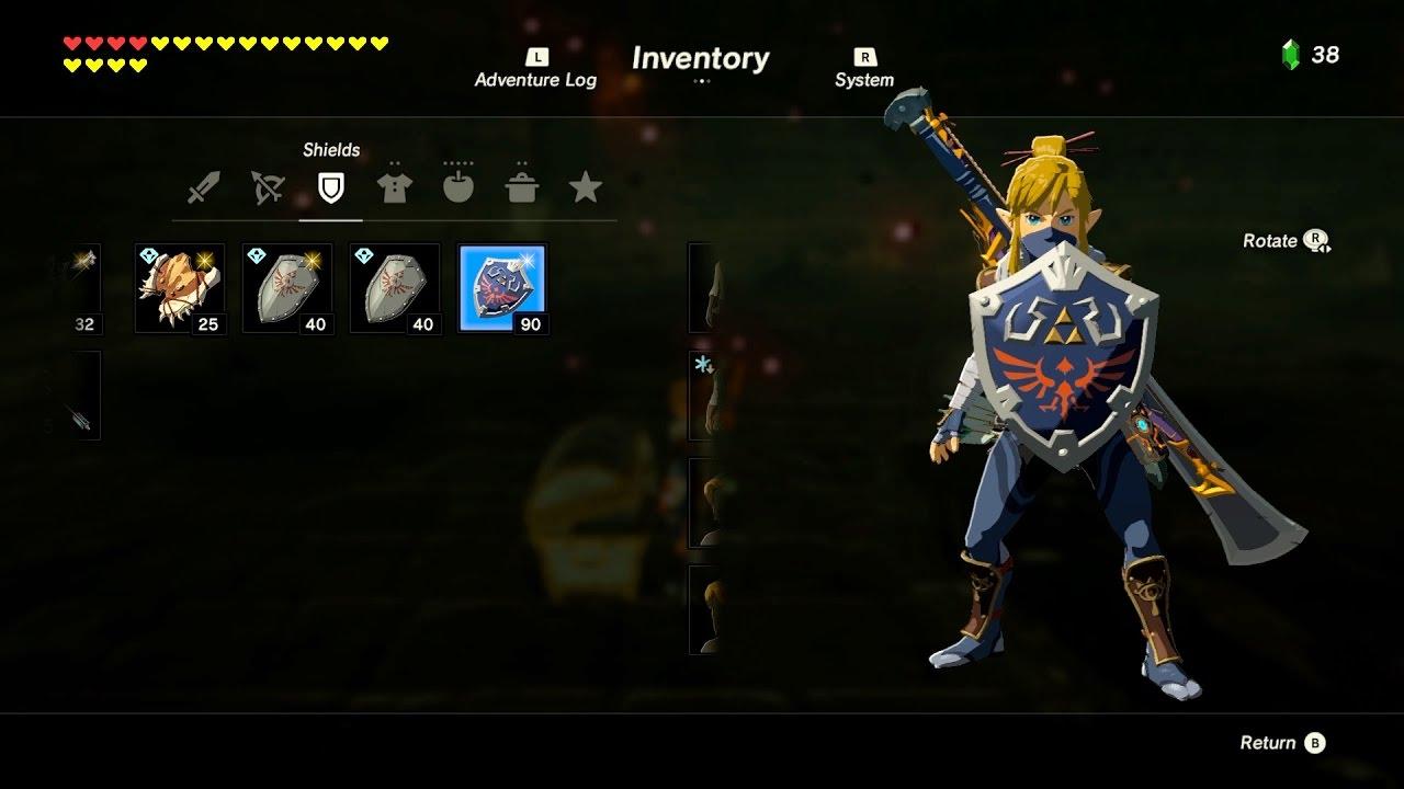 Zelda Botw How To Get The Hylian Shield Hyrule Castle Youtube
