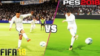 FIFA 18 vs. PES 18: Long Shots, Finesse Shots, Lobs