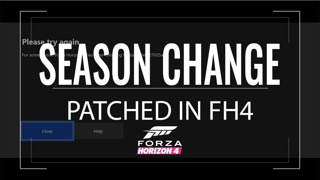 Xbox One - FORZA HORIZON 4 HOW TO CHANGE SEASON PATCHED