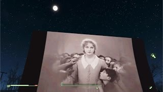 Fallout 4 Starlight Drive-in - working projector (test 3)
