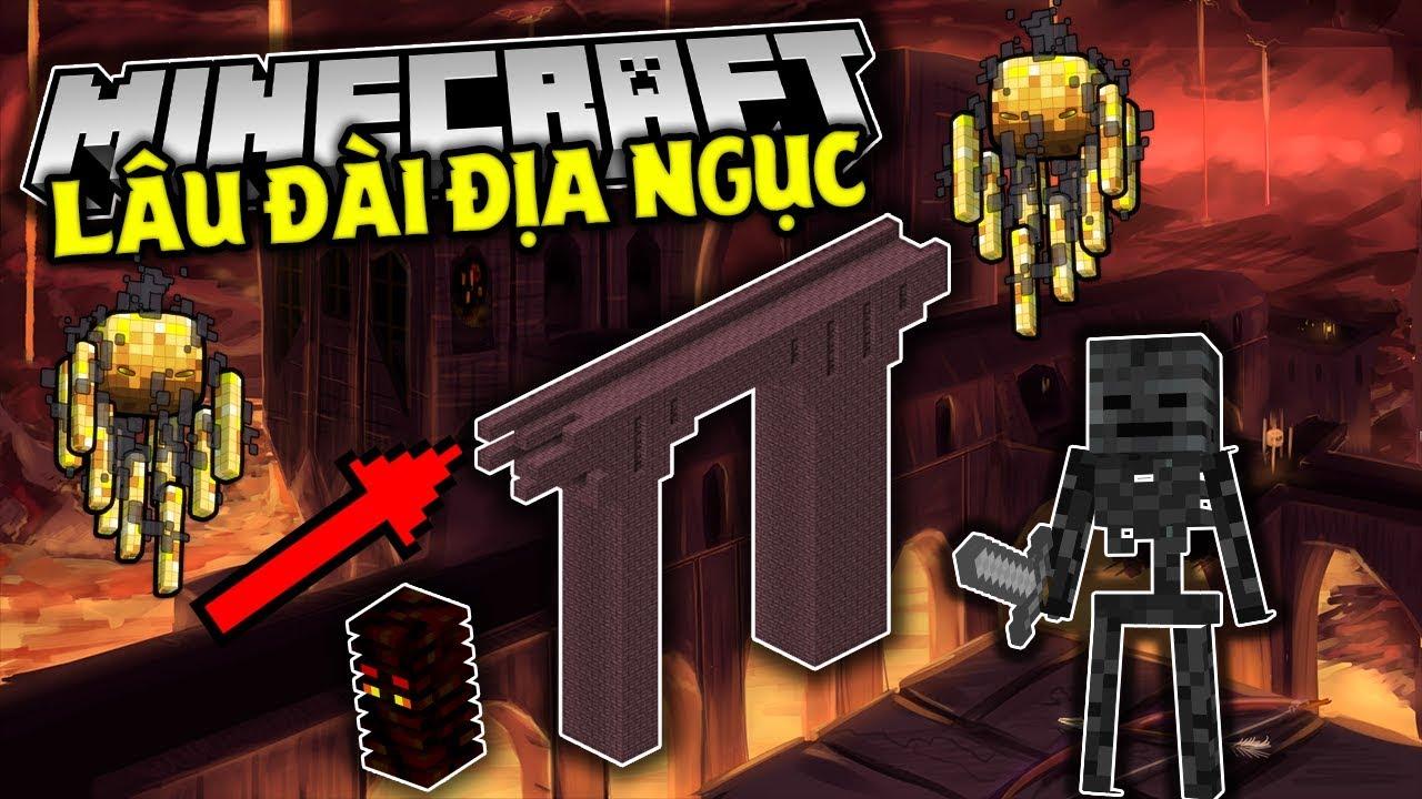"""Những Điều Bạn Cần Biết Về """"Lâu Đài Địa Ngục"""" Trong Minecraft !! (Nether Fortress)"""